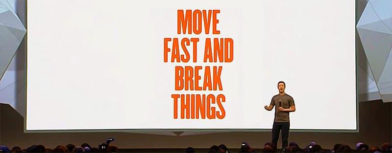 Mark Zuckerberg von Facebook Zitat zu Experiment Velocity