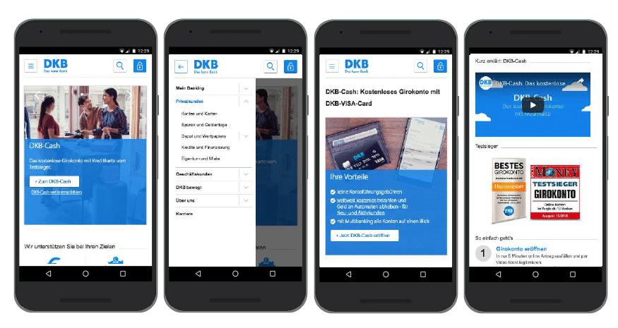 UX Best Practices Mobile: Klassenbester: Startseite & Navigation - DKB