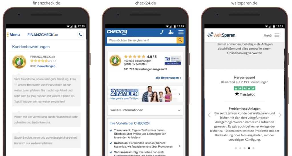 UX Best Practice Mobile: Social Proof für Vertrauen