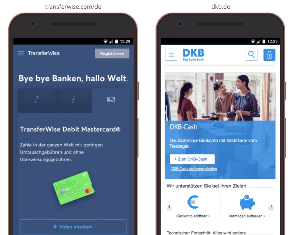 UX Best Practices Mobile: Automatische Slider