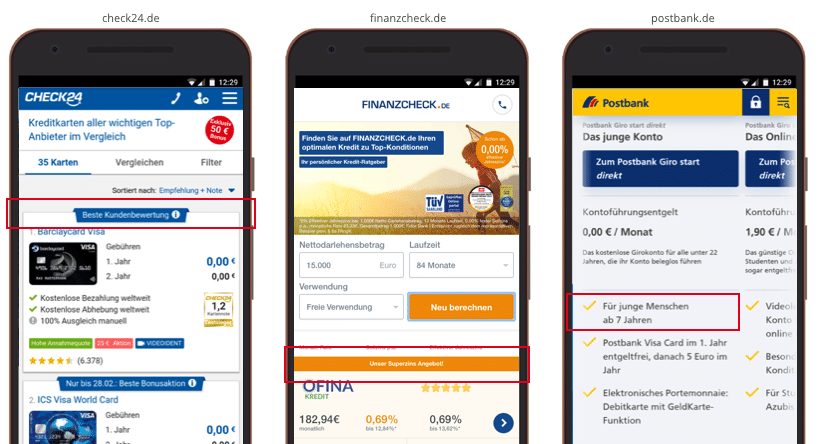 UX Best Practices Mobile: Heb Produkte ab