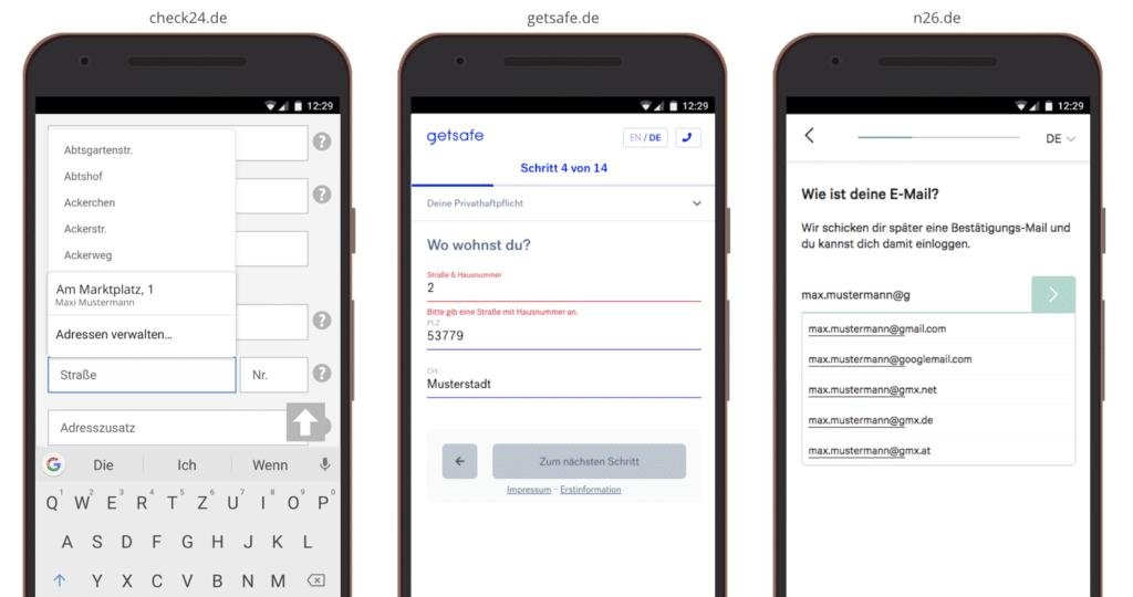 UX Best Practices Mobile: Inline-Validierung & Autofill