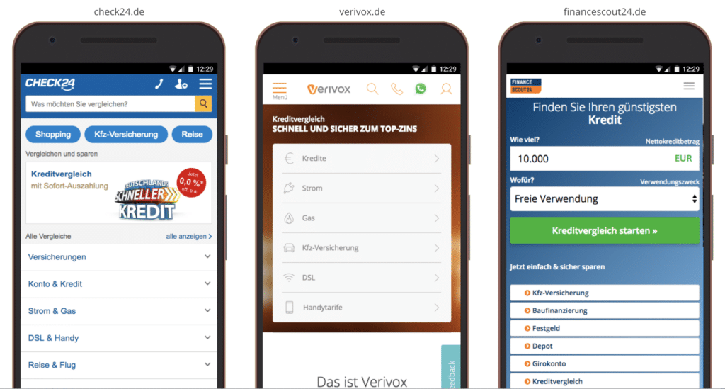UX Best Practices Mobile: Menü-Kategorien