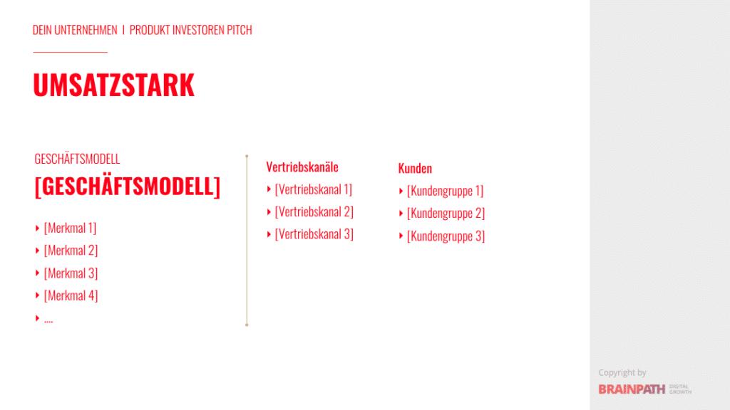 Investoren-Pitch-Deck und wie du es erstellst. Umsatz- und Geschäftsmodell..