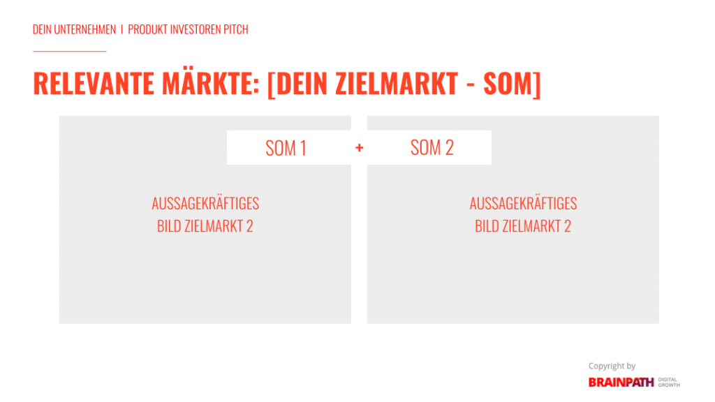 Investoren-Pitch-Deck und wie du es erstellst. Der Zielmarkt.
