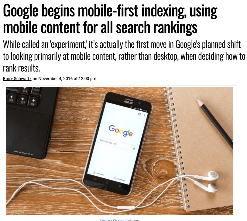 Google startet Mobile-First-Ansatz - UX für SEO - Mobil Optimierung als Rankingfaktor