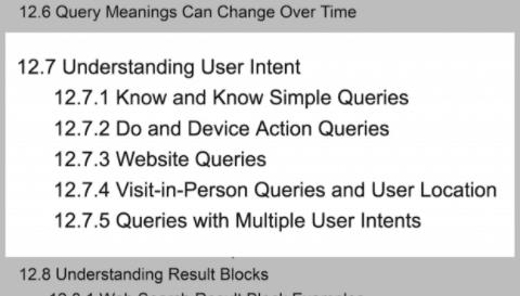 Screenshot: Google Quality Rater Guidelines - User Intent - Brainpath UX SEO