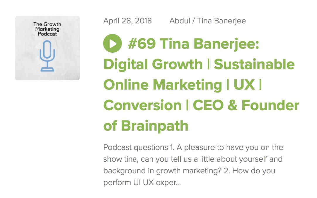 Tina spricht im Growth Marketing Podcast
